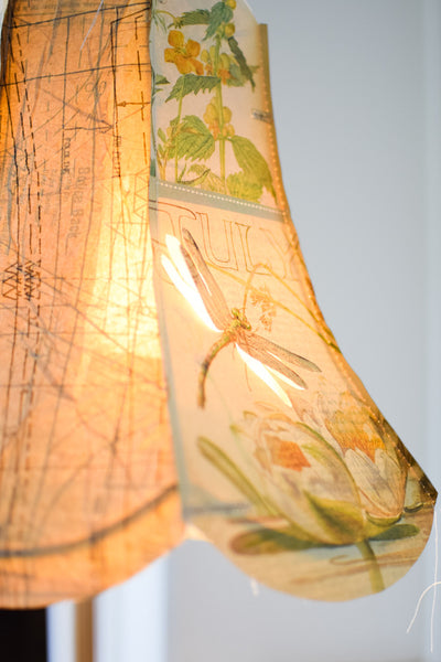July - Vintage Paper Lampshade