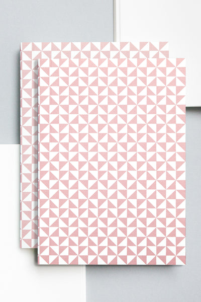 A5 'Kaffe' Layflat Notebook in Clay Pink