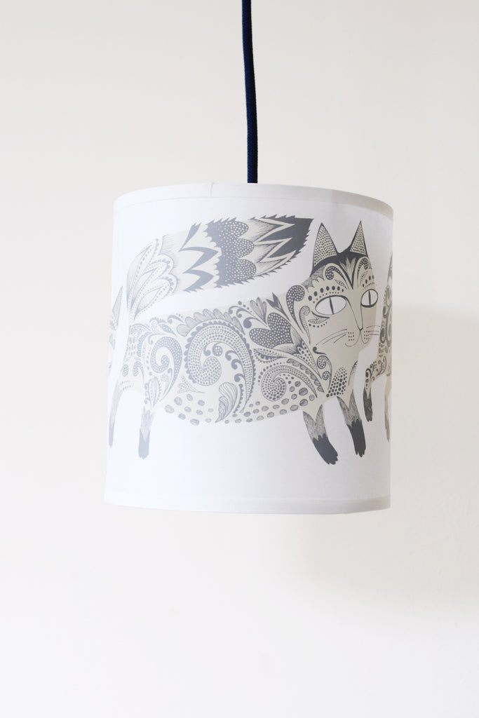 Grey Kitty Lampshade