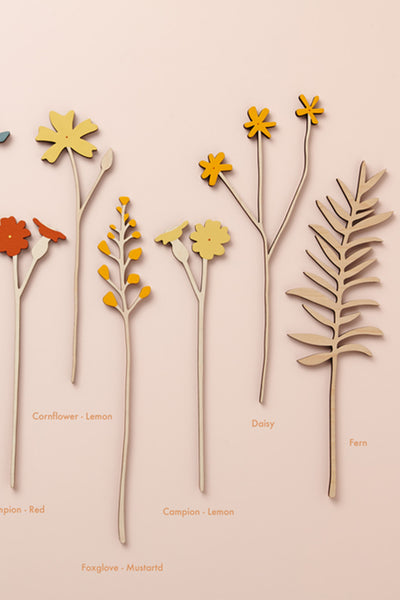 Individual Large Wooden 'Meadow' Flowers