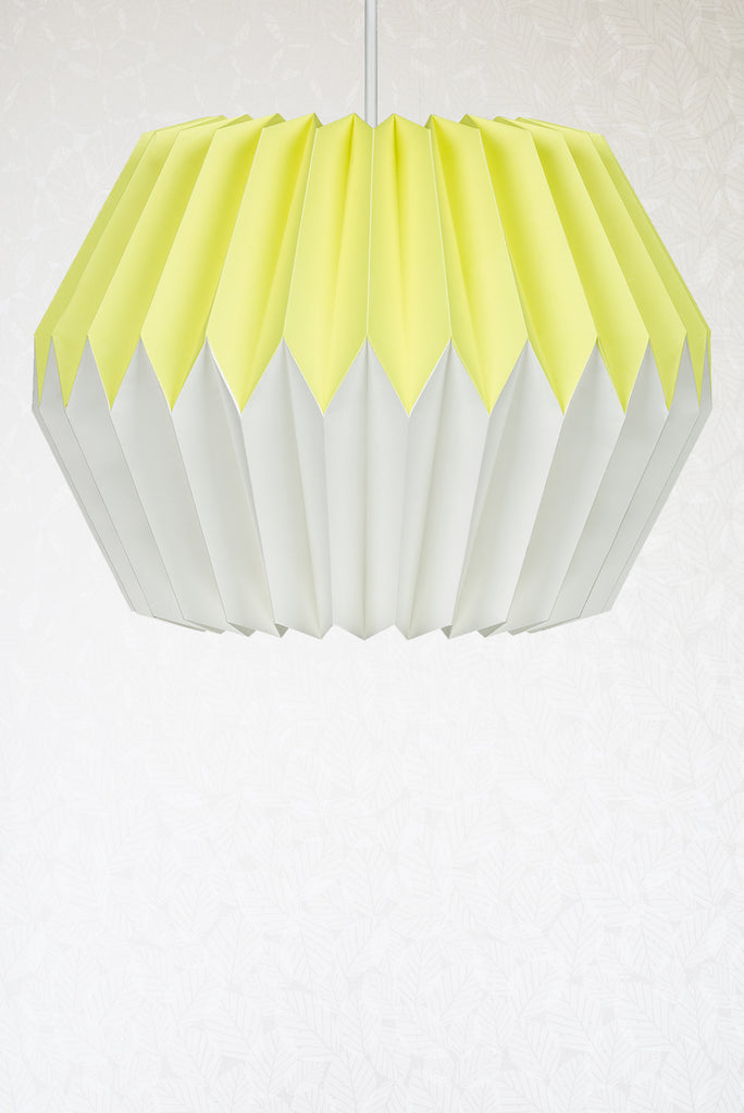 Lemon yellow origami paper lampshade radiance lemon yellow origami paper lampshade aloadofball Image collections