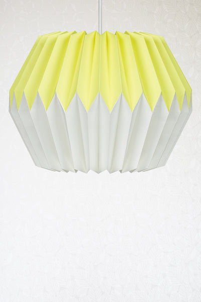 Lemon Yellow Origami Paper Lampshade