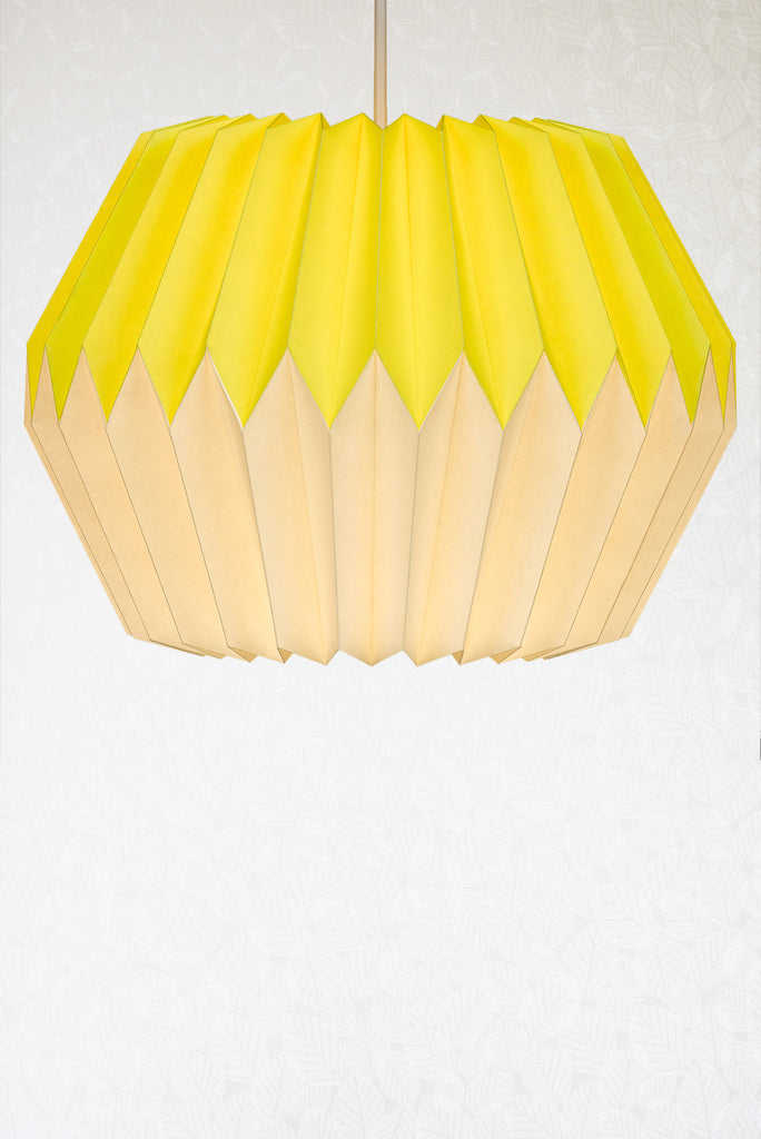 Lemon yellow origami paper lampshade radiance lemon yellow origami paper lampshade lemon yellow origami paper lampshade aloadofball Image collections