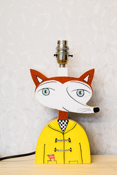 Domino the fox - plywood lamp base