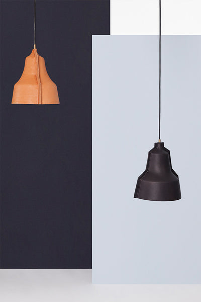 Lloyd Hand-Stitched Leather Lampshade