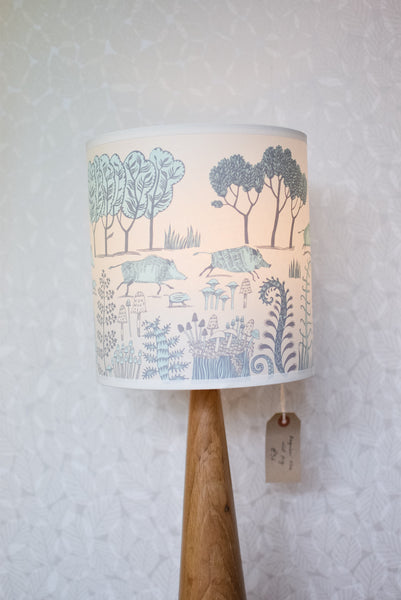 Blue Wild Boar Lampshade