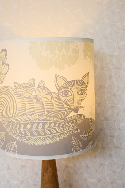 Cream Fox and Cubs Lampshade