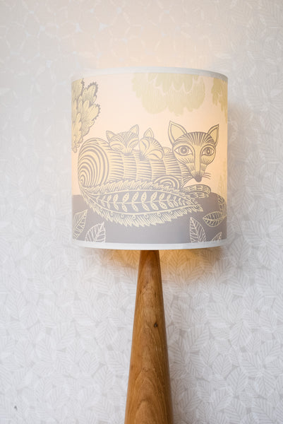 Cream Fox and Cubs lampshade by Lush Designs from Radiance