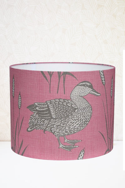 Rose Pink Mallard Fabric Shade
