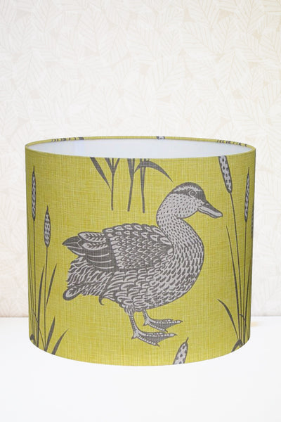 Yellow Mallard Fabric Shade