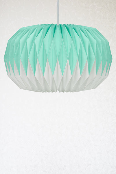 Mint Green Origami Paper Lampshade