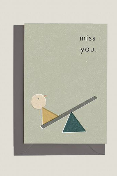 Miss You - Greetings Card