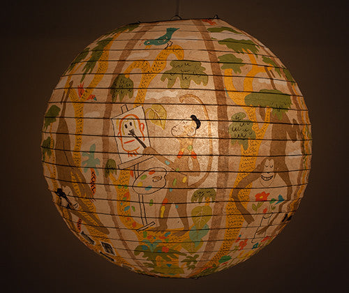 Monkey Business Globe Lantern