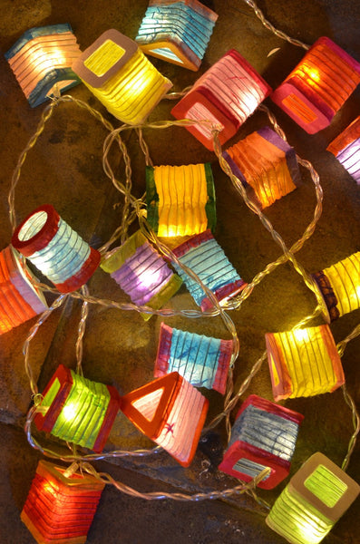 Multicoloured String of LED Lanterns