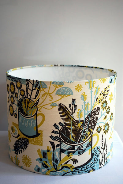 Nature Table Lampshade (Bark/Sky Blue)