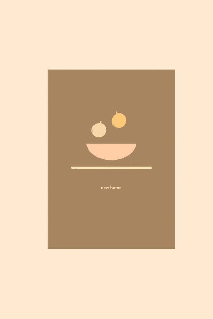 New Home Fruit Bowl - Greetings Card