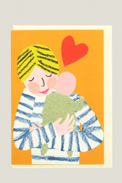 New Baby Hug - Greetings Card