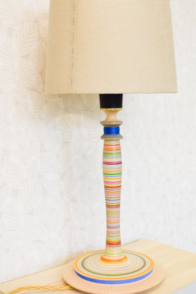 Colourful Fine Stripe Lamp Base no. 353