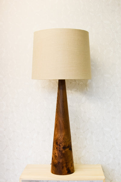 Solid Elm Cone Lamp Base