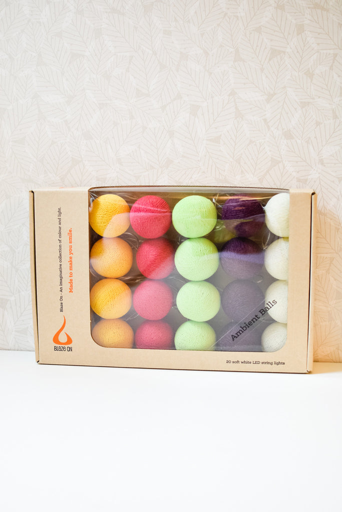 Macaroon Tones Ambient Ball Fairy Lights