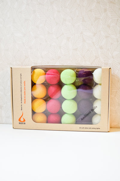 Macaroon Tones Cotton Ball Fairy Lights