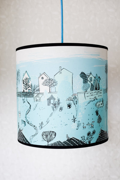 Back Gardens Lampshade in Turquoise