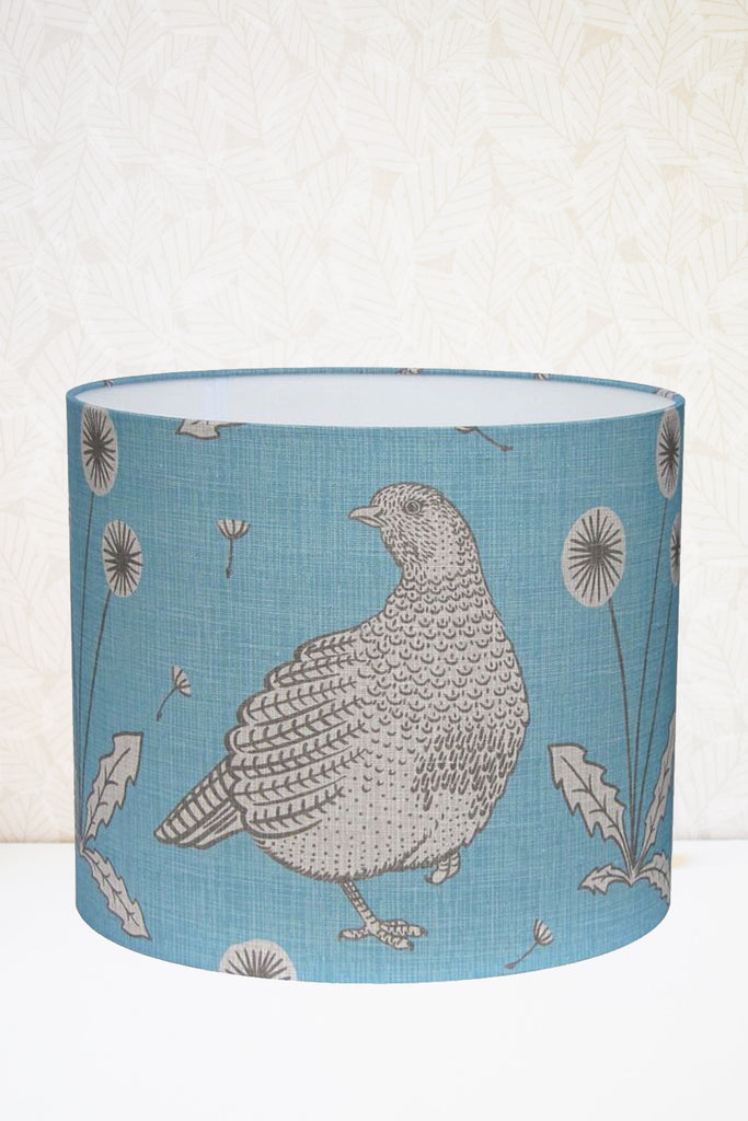 Blue Partridge Fabric Shade