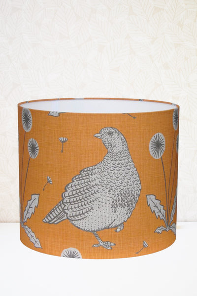 Orange Partridge Fabric Shade