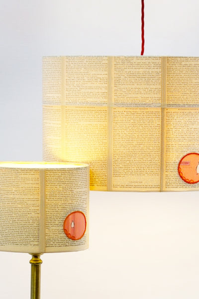 Penguin Orange Paper Lozenge Lampshade
