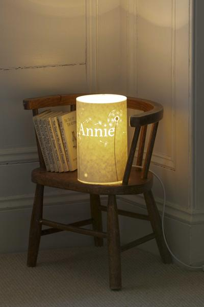 Dandelion Clocks Personalised Lamp
