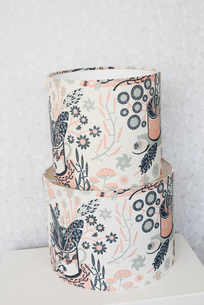 Nature Table Lampshade (Payne's Grey / Rose)