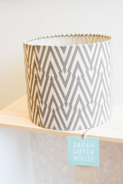 Thunderbolt Fabric Shade in Taupe