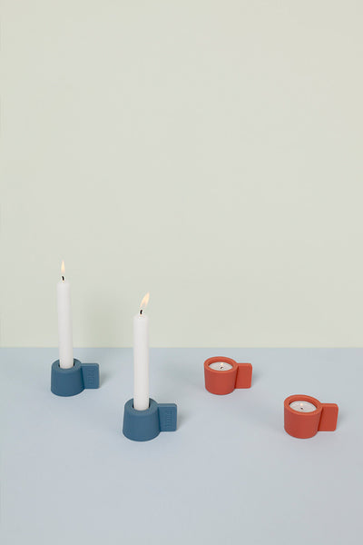 'Silly' Reversible Candle Holders (set of 2)