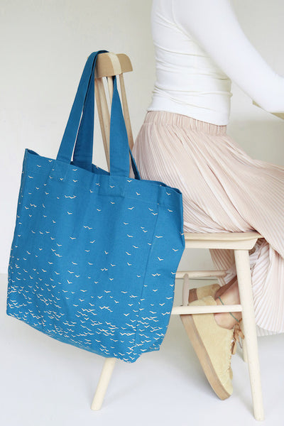 Sky tote bag - Cobalt Blue / Large