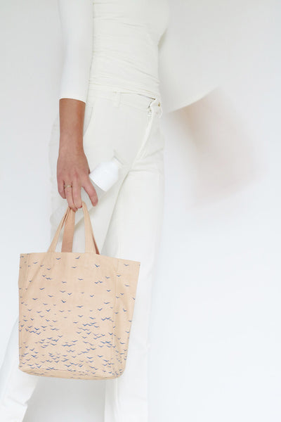 Sky tote bag - Apricot / Small