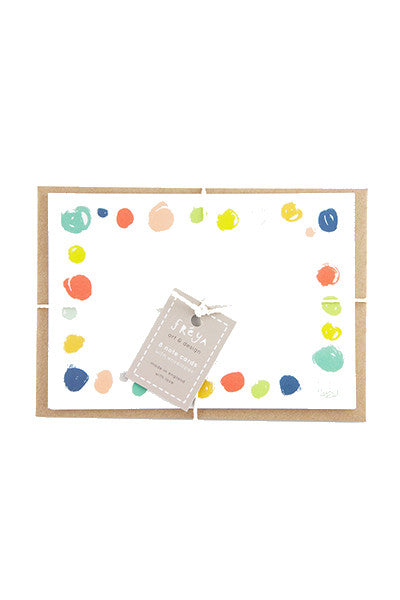 Paint Spot Note Card Set