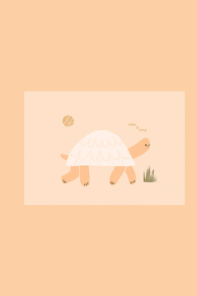 Take It Easy Tortoise - Greetings Card