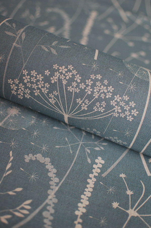 Paper Meadow fabric in teal