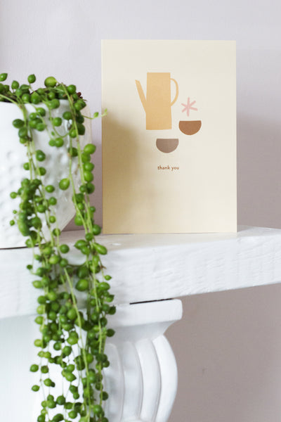 Thank You Coffee - Greetings Card