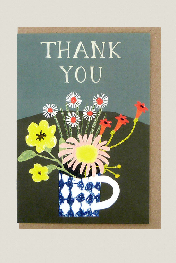 Floral Thank You - Greetings Card