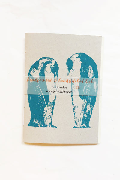 Tuxedo Penguins Hand-Stitched Notebook
