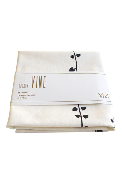 Rosary vine tea-towel
