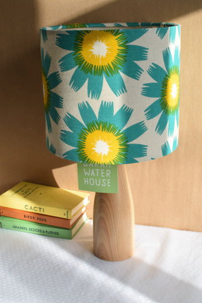 Bloom Fabric Shade in Jade/Mustard