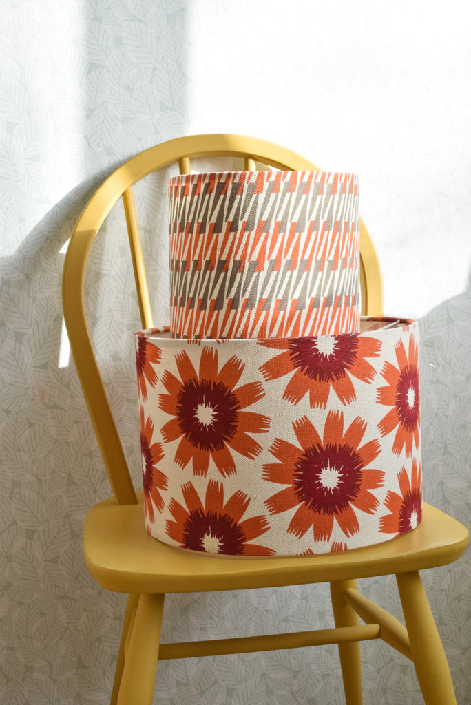 Bloom Fabric Shade in Sunset
