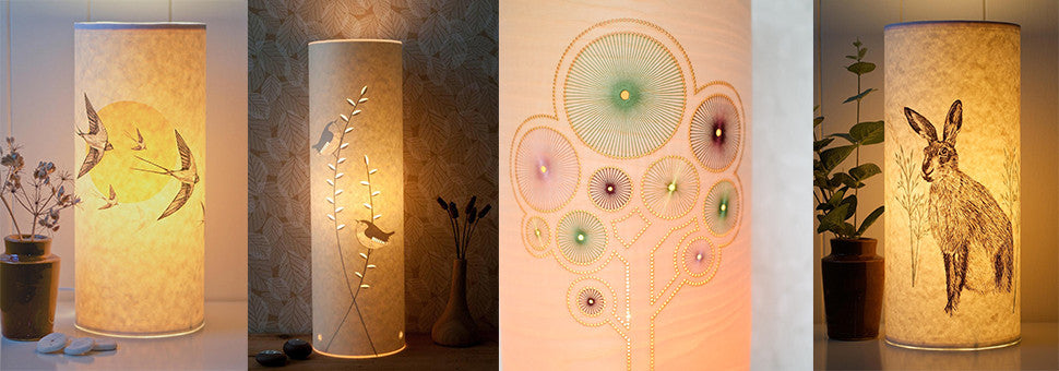 Unique handmade table lamps to add a cosy glow to your living room - Radiance