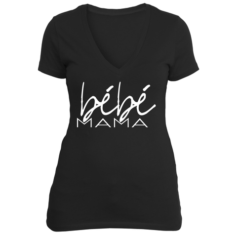 bébé mama (black v-neck)