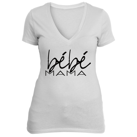 bébé mama (white v-neck)