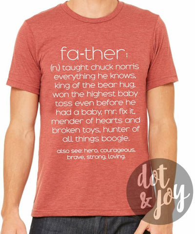 father definition funny graphic tee