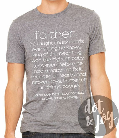 new dad father definition funny graphic tee