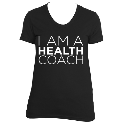 I am a health coach (white design)
